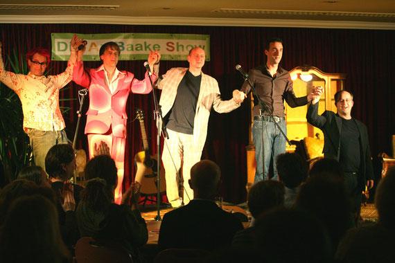 Die umjubelte Premiere fand am 8.10.08 in der Kleinkunstbühne im Kräutergarten statt.