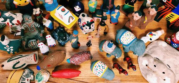 前田ビバリー収集した郷土玩具の一部