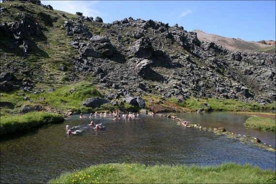 Warmer Naturpool in Landmannalaugar