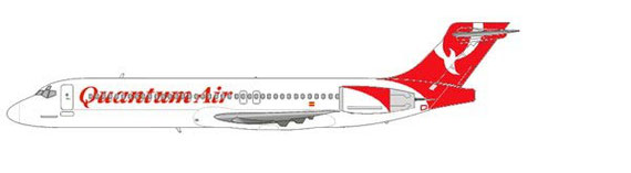 Boeing 717 in den Farben der Quantum Air/Courtesy and Copyright: md80design