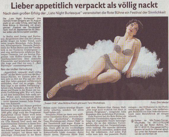 Nürnberger Nachrichten, 4.8.2009