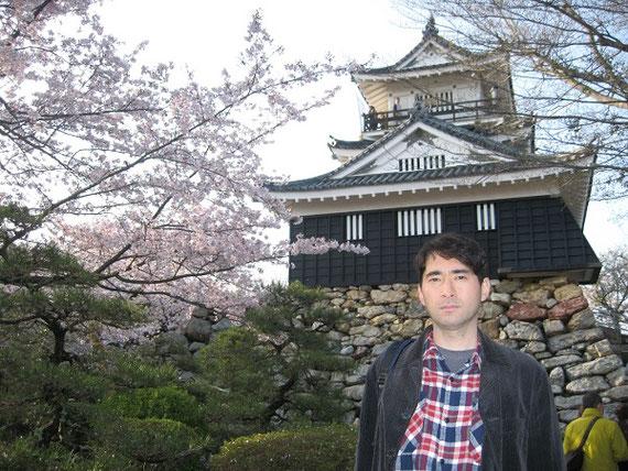2011年4月撮影。徳川家康が17年間在城した浜松城(浜松市中区)。静岡大学工学部から徒歩15分。