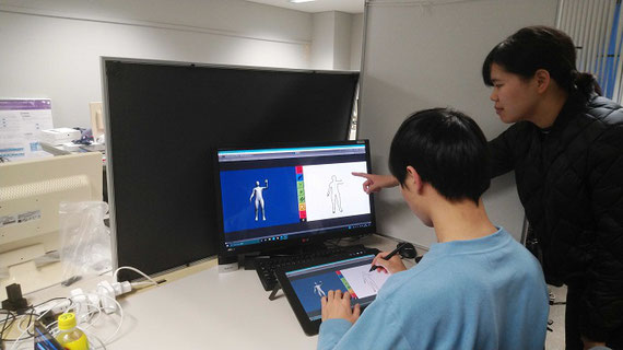 人体画スケッチ学習支援