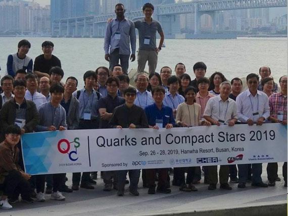 韓国・釜山で開催されたQuark and Compact Stars 2019の参加者