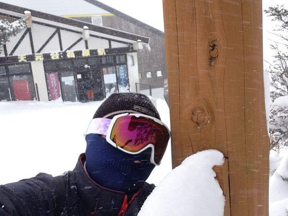 山形・天元台での一枚。気温マイナス15℃の日も、スキー・スノボーを楽しんでいます。
