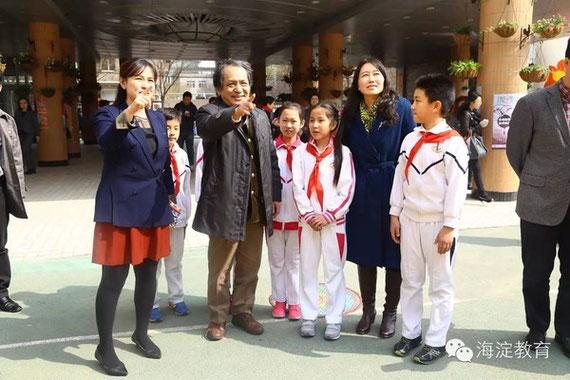北京市の学校にて
