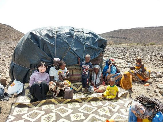 ジブチにて、遊牧民の生活調査での一枚
