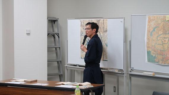 三重県伊賀市で行われた忍者・忍術学講座(2018年度)の講義風景。