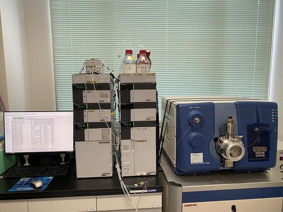 実験でつかう分析機器(LC-MS/MS)