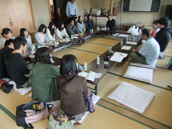 佐井村教育委員会と共催した「ちびっこ海賊の佐井村まち探検」での打ち合わせのヒトコマ