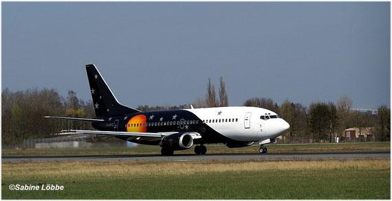 Boing 737-300 kurz vor dem Start