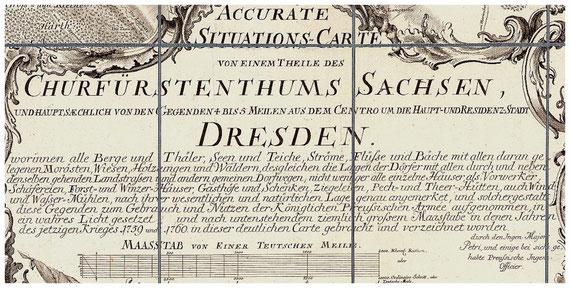 Churfürstentum Sachsen, Königlich-Preußische Militärkarte von 1759 / 60, von I. J. von Petri (Ausschnitt).  Quelle: SLUB Dresden / Deutsche Fotothek; df_dk_0001803 (CC BY-SA 4.0)