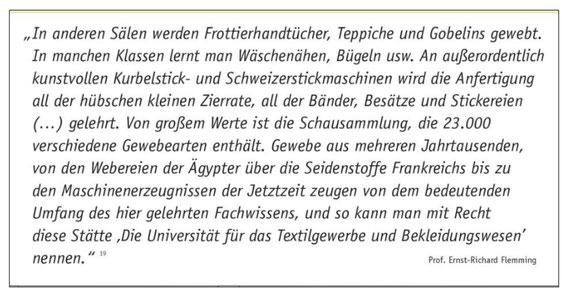 Ernst Flemming, Zitat aus: Die historischen Wurzeln der HTW Berlin.  Hrsg.:  Berliner Wissenschafts-Verlag GmbH, Berlin 2014. Seite 11