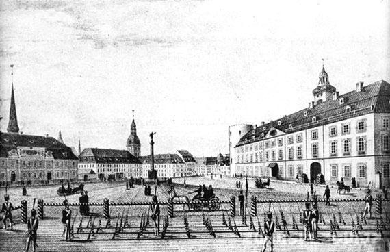 Riga Lyzeum um 1820, Rigaer Schloss, Rigaer Dom,  Domschule Riga