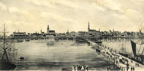Riga 1840, Dom, Kronskirche St. Jakob,