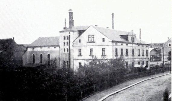 Brauerei Börner in Radeberg, Mühlstraße 2, um 1906