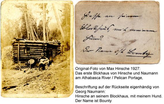 Erstes Blockhaus von Naumann und Hinsche