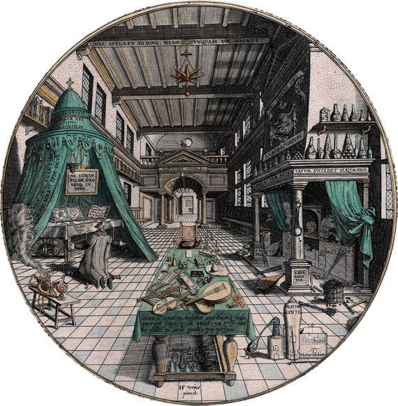Heinrich Kuhnrath, Amphitheatrum Sapientiae Aeternae, 1595                   (foto tratta da Wikipedia)
