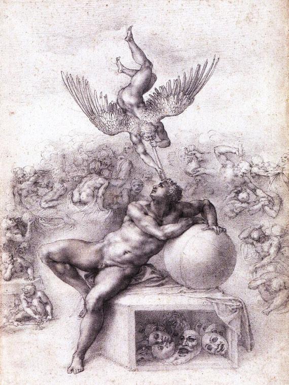 Michelangelo, Il sogno, 1530 circa