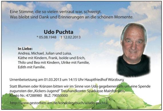 Memoriam Udo Puchta