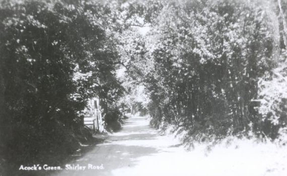 Shirley Road before it was widened
