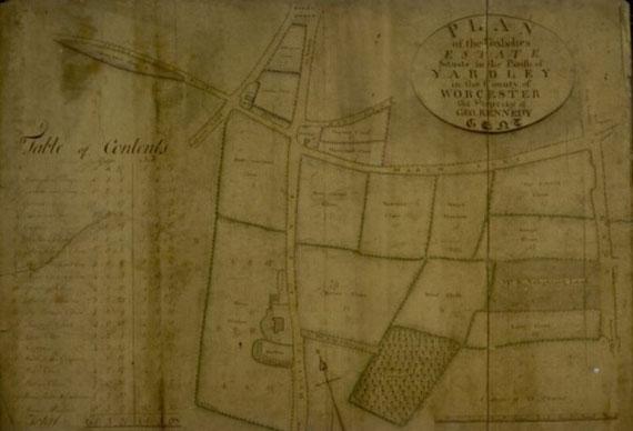 Estate Plan of 1807 (Birmingham City Archives)