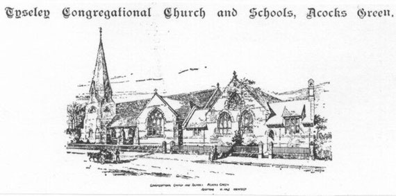 Tyseley Congregational church and schools