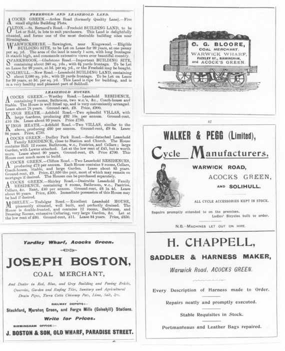 A page of adverts