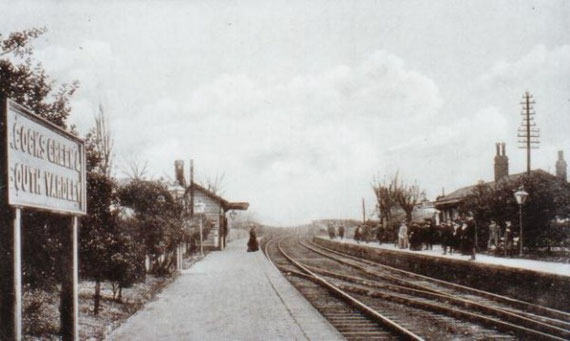 Acocks Green station in 1905, just before it was enlarged