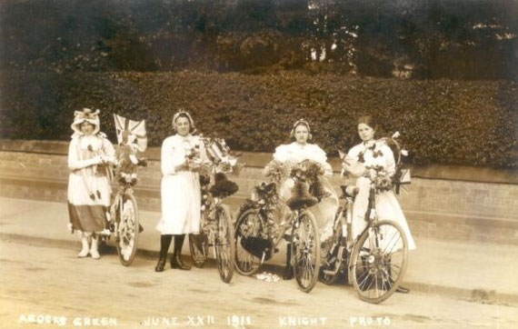 A postcard of Decorated Bicycles (not from the Journal)