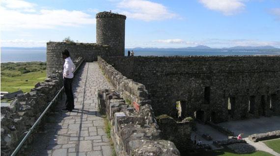 Harlech Castle - Battlements.