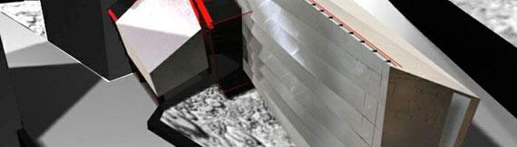 2000 - Extension du musée du fer blanc de Saint Arcons d'Alier (43) Concours d'idée - MO: CIBAP Surface: 120 m² SHON Budget: N.C.