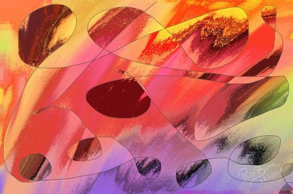 Harmonie, digital erstellt auf Leinwand gedruckt 120x80 cm