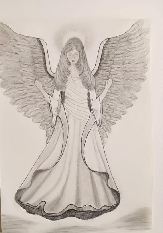 Engel der Hoffnung, Graphit auf Zeichenpapier A4