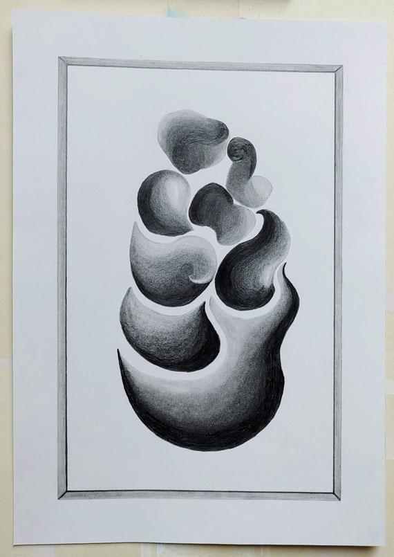 Aufgegriffen, Bleistift auf Clairfontaine On Multitechnik Papier, 29,7 cm x 42 cm