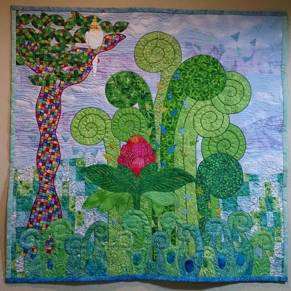 「Glittering Summer Garden」2010AQS Quilt show入選