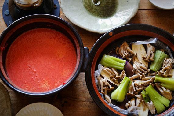 仲本律子 茨城県笠間市 陶芸家 女性陶芸家 陶芸作家 ブログ 土鍋 土鍋料理 ビーツスープ 焼き野菜