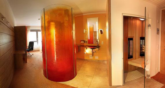 Die neuen Superzimmer mit eigener Sauna