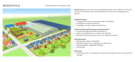 """geplanter """"RegioHof Stirpe"""" - Projektskizze aus der Beschlussvorlage des Bauausschusses"""
