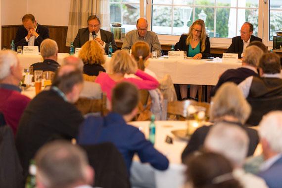 Podiumsdiskussion mit Frank Vornholt, Horst Baier, Anna Kebschull, Michael Lübbersmann