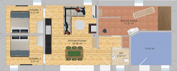 Ferienwohnung Wellness Apartment im Ferienhaus bei Bautzen