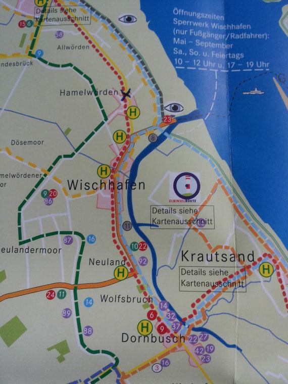 """Die """"Hommelperle"""" liegt knapp 3 km von Wischhafen Richtung Freiburg entfernt."""