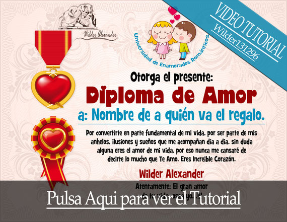Tutorial Photoshop: Diploma de Amor
