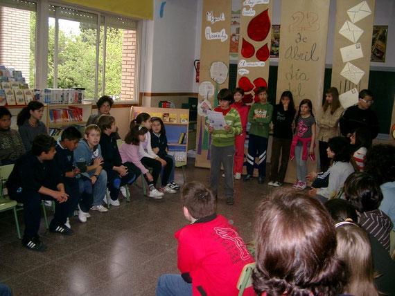 Encuentro literario de los trabajos de sexto de primaria