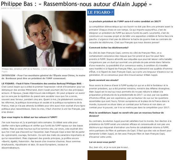 Tribune de Philippe Bas dans le Figaro.fr le 29/06/2012