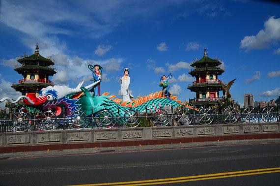 Taiwan, Taiwan 2017, Kaohsiung, Lotusblütensee, Beiji Xuantian Shangdi, Tiger und Drachen Pagode, Zwei auf Achse, Südostasien, Frühlings und Herbst Pagode, Formosa Boulevard Station