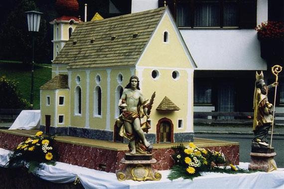 Modell der Pfarrkirche Waidring