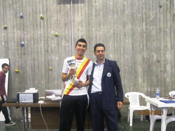 Sciacca, vice campione italiano 2010/2011, premiato dal Selezionatore della nazionale, Alfredo Palmieri