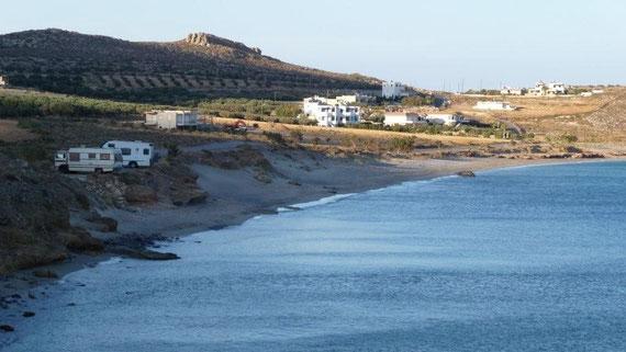 Stellplatz Ambelos-Beach