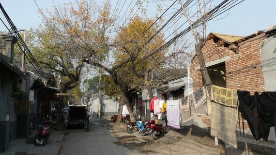 En plein centre de cette ville de plusieurs millions d'habitants, des petites ruelles calmes loin de l'agitation des grandes avenues sovietiques: les hutongs